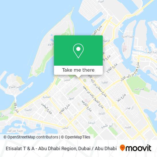 Etisalat T & A - Abu Dhabi Region map