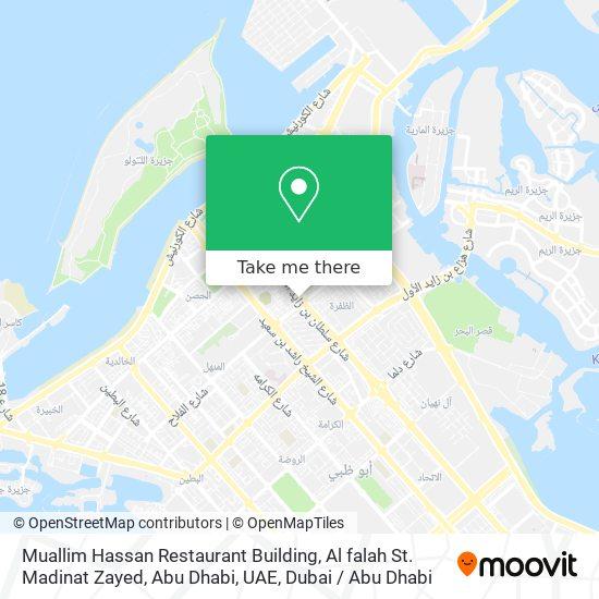 Muallim Hassan Restaurant Building, Al falah St. Madinat Zayed, Abu Dhabi, UAE map