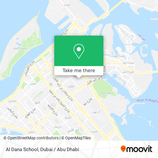 Al Dana School map