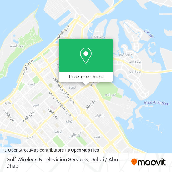Gulf Wireless & Television Services map