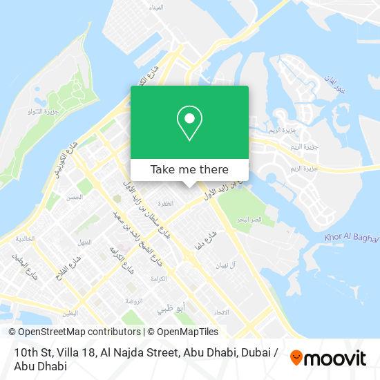 10th St, Villa 18, Al Najda Street, Abu Dhabi map