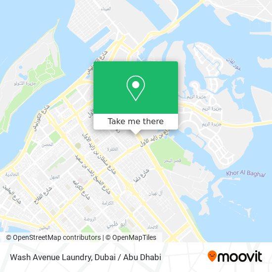 Wash Avenue Laundry map