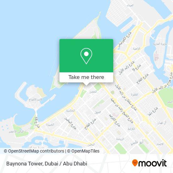 Baynona Tower map