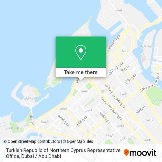 Turkish Republic of Northern Cyprus Representative Office map