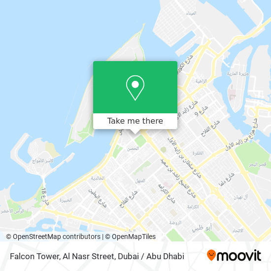 Falcon Tower, Al Nasr Street map