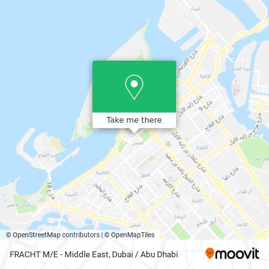 FRACHT M/E - Middle East map