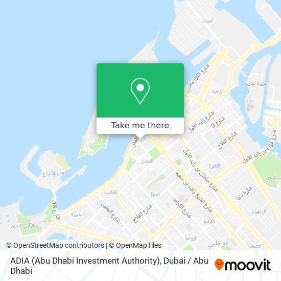 ADIA (Abu Dhabi Investment Authority) map