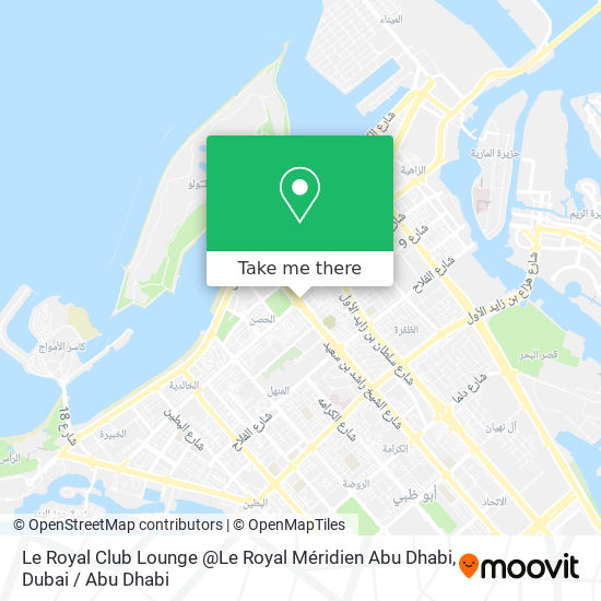 Le Royal Club Lounge @Le Royal Méridien Abu Dhabi map