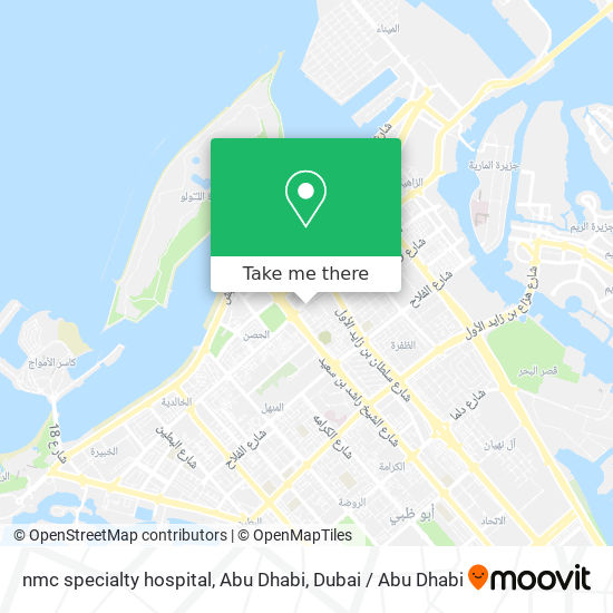 nmc specialty hospital, Abu Dhabi map
