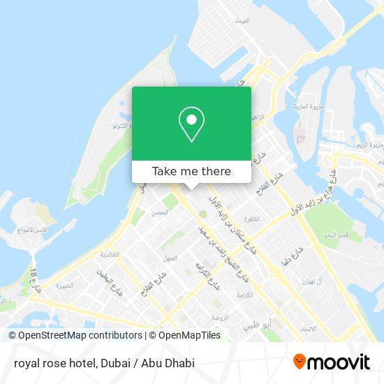 royal rose hotel map