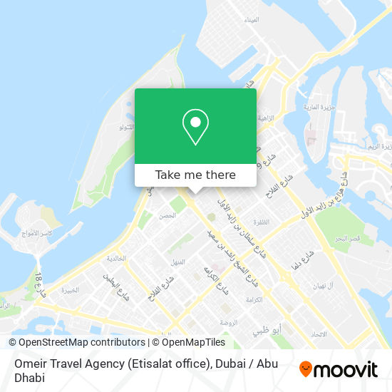 Omeir Travel Agency (Etisalat office) map