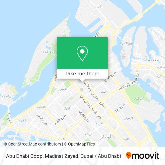 Abu Dhabi Coop, Madinat Zayed map