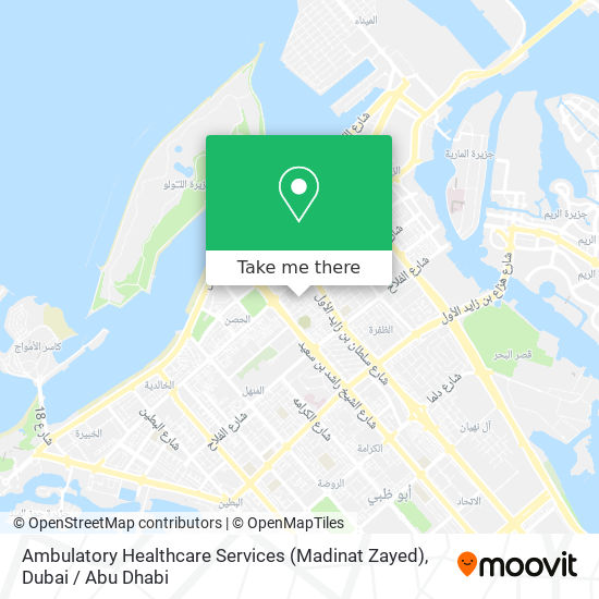Ambulatory Healthcare Services (Madinat Zayed) map