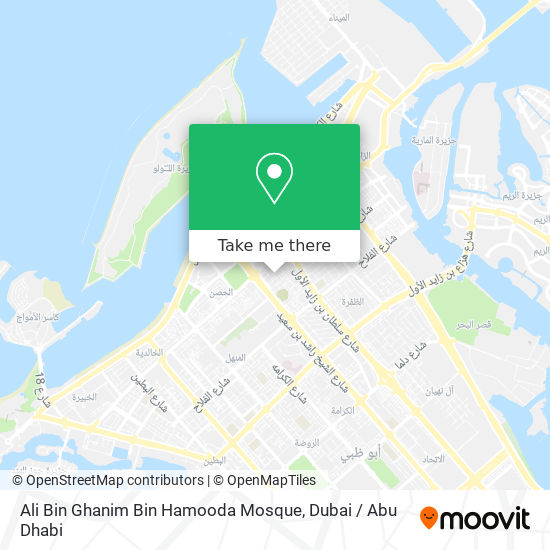 Ali Bin Ghanim Bin Hamooda Mosque map
