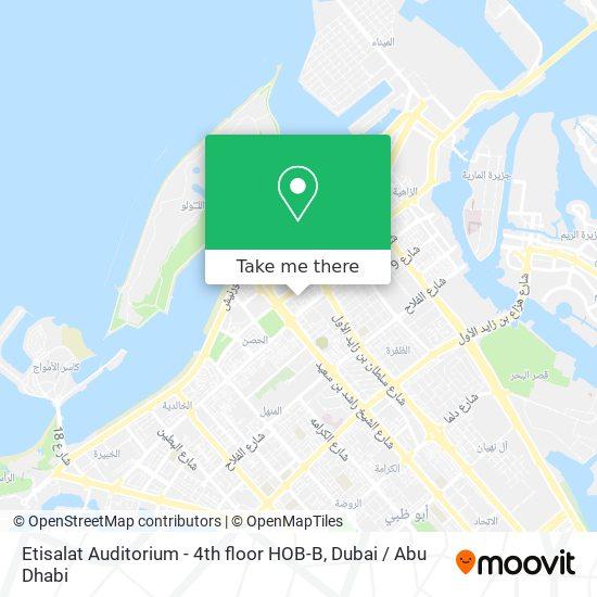 Etisalat Auditorium - 4th floor HOB-B map