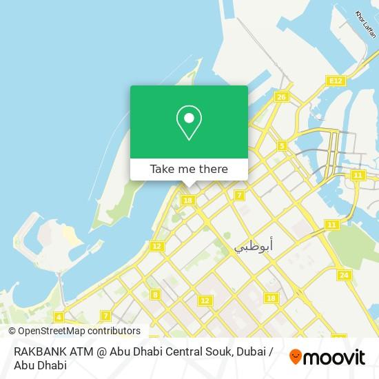 RAKBANK ATM @ Abu Dhabi Central Souk map