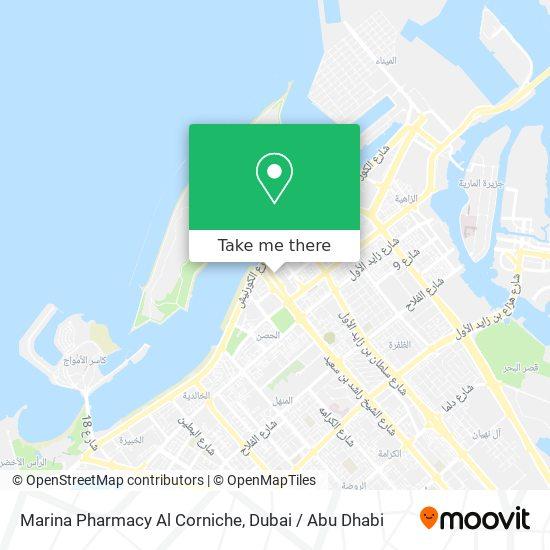 Marina Pharmacy Al Corniche map