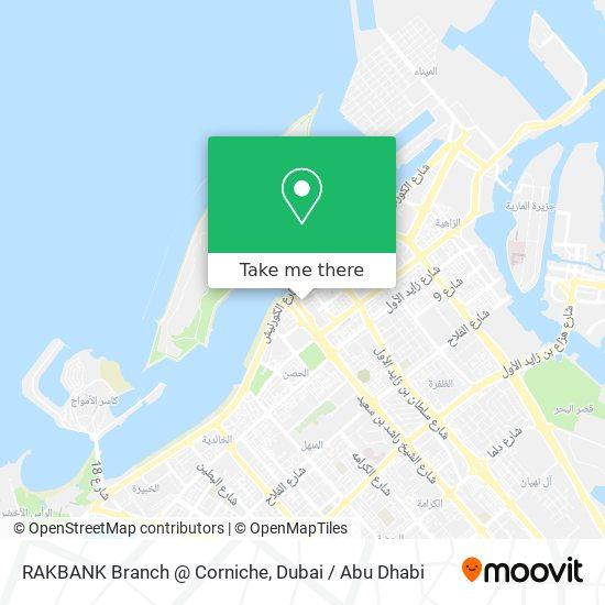 RAKBANK Branch @ Corniche map