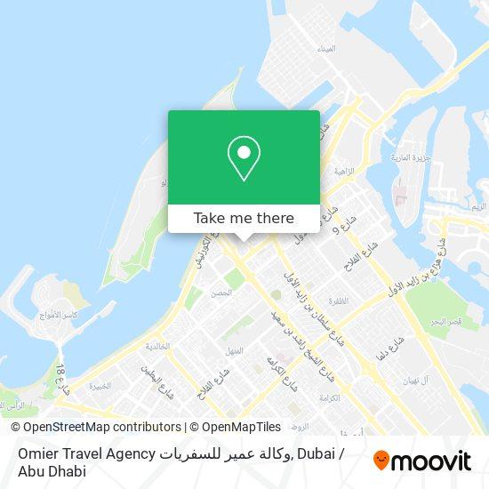 Omier Travel Agency وكالة عمير للسفريات map