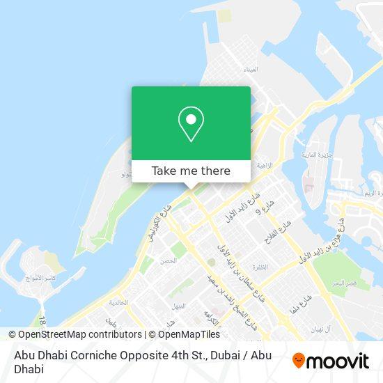Abu Dhabi Corniche Opposite 4th St. map
