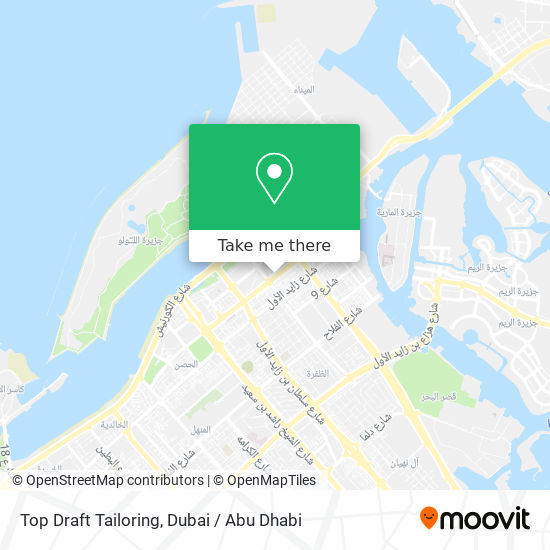 Top Draft Tailoring map