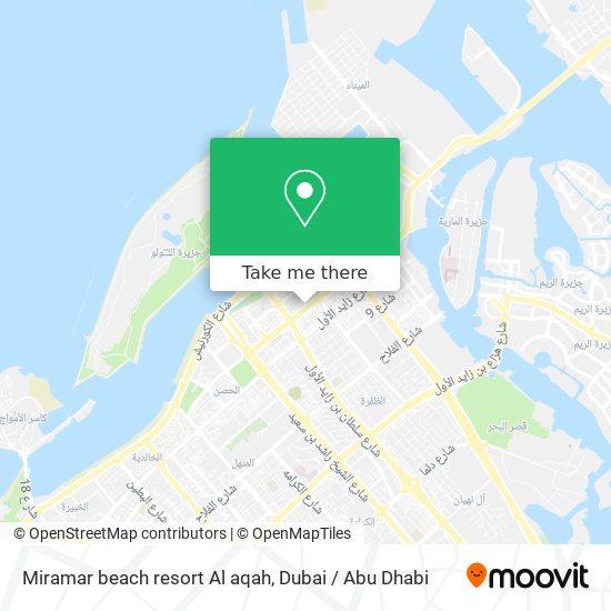 Miramar beach resort Al aqah map