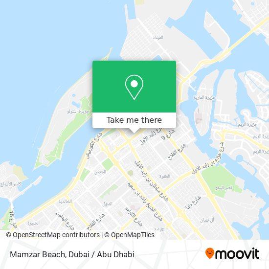 Mamzar Beach map