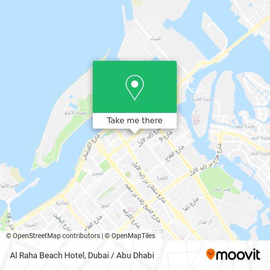 Al Raha Beach Hotel map