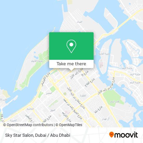 Sky Star Salon map