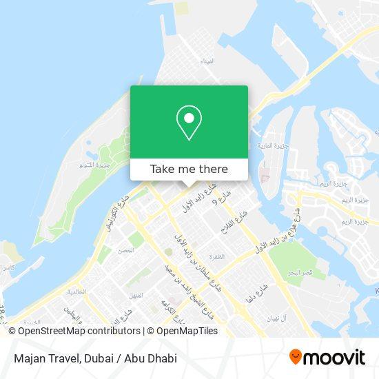 Majan Travel map