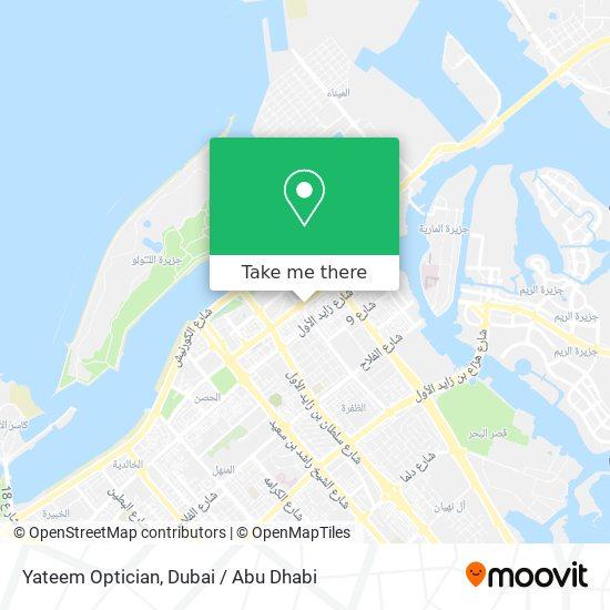 Yateem Optician map
