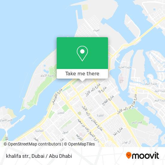 khalifa str. map