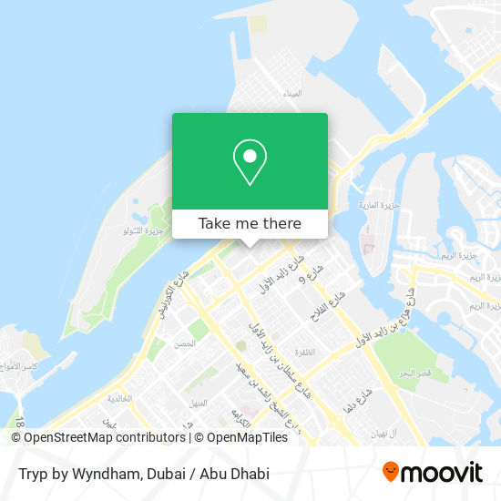 Tryp by Wyndham map