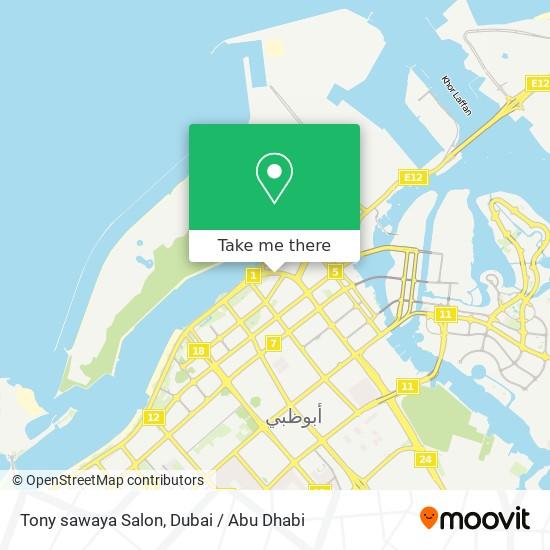 Tony sawaya Salon map