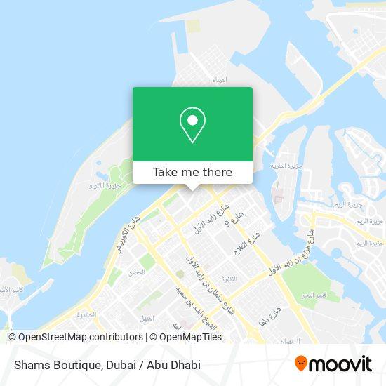 Shams Boutique map