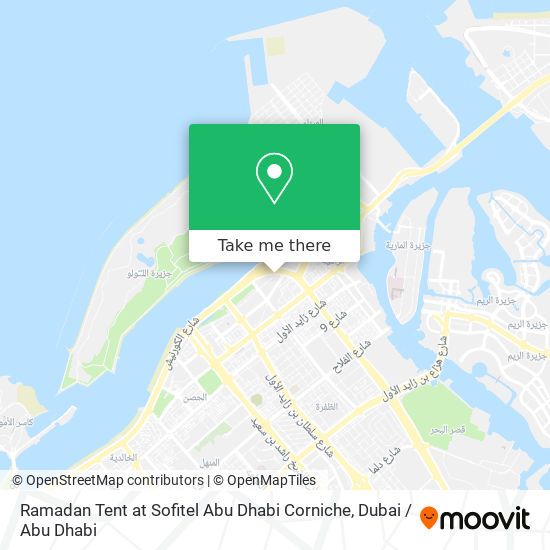 Ramadan Tent at Sofitel Abu Dhabi Corniche map