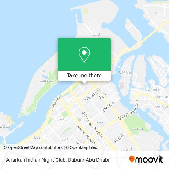 Anarkali Indian Night Club map