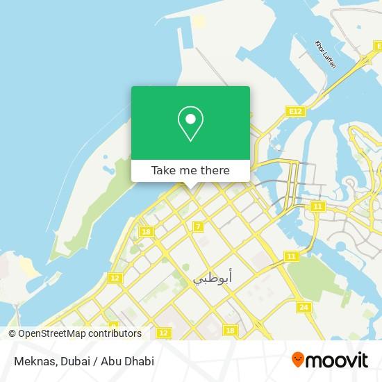 Meknas map