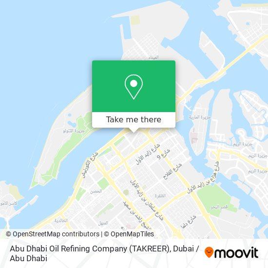 Abu Dhabi Oil Refining Company (TAKREER) map