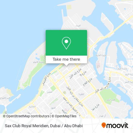 Sax Club Royal Meridien map