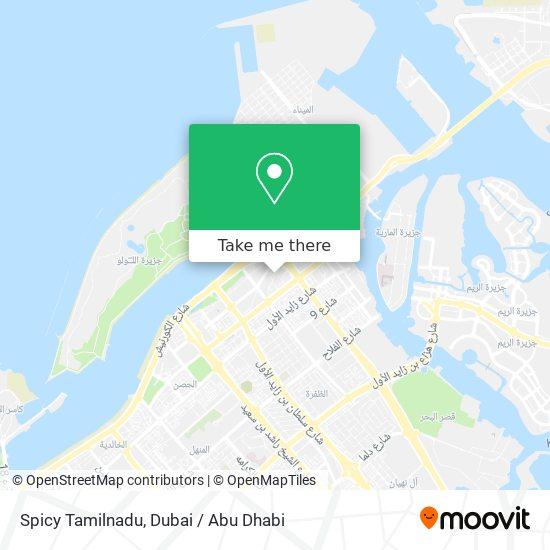 Spicy Tamilnadu map