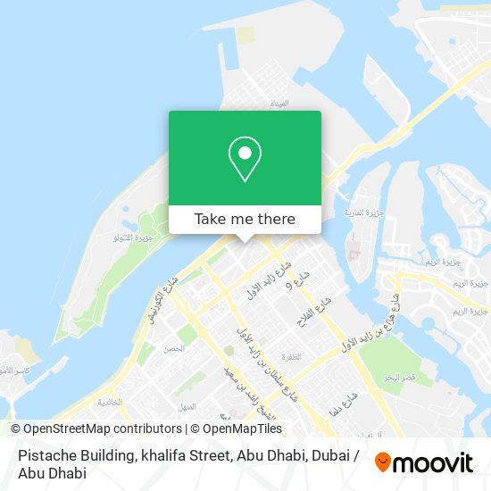 Pistache Building, khalifa Street, Abu Dhabi map