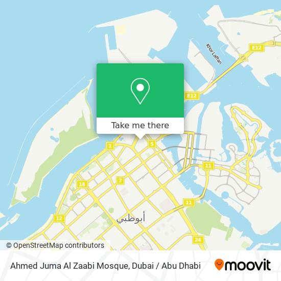 Ahmed Juma Al Zaabi Mosque map