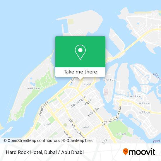 Hard Rock Hotel map