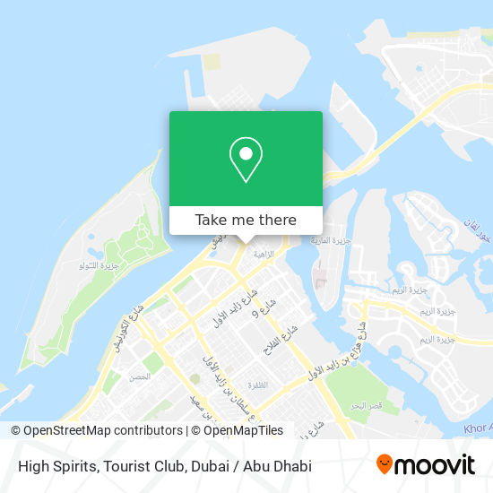 High Spirits, Tourist Club map
