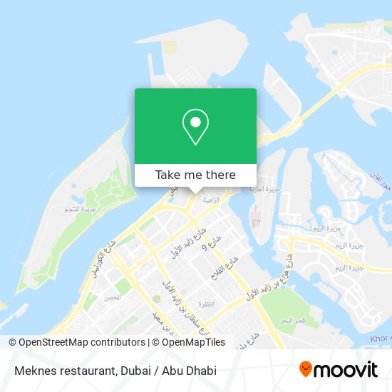 Meknes restaurant map