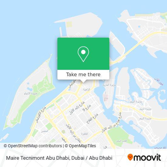 Maire Tecnimont Abu Dhabi map