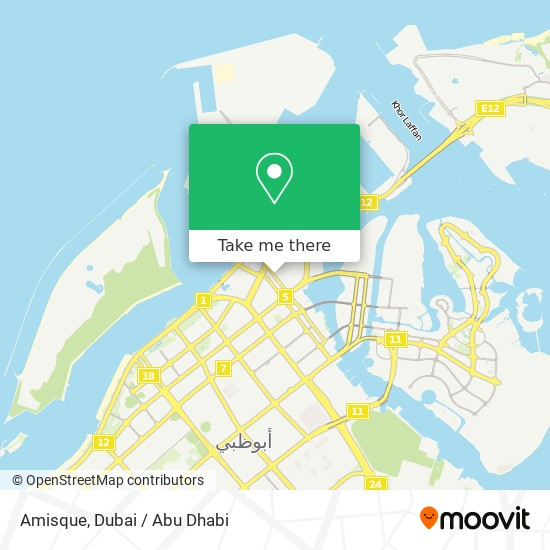 Amisque map