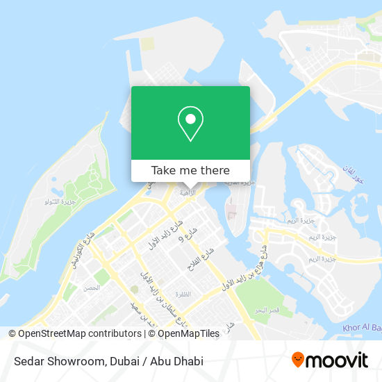 Sedar Showroom map