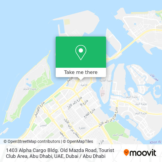 1403 Alpha Cargo Bldg. Old Mazda Road, Tourist Club Area, Abu Dhabi, UAE map